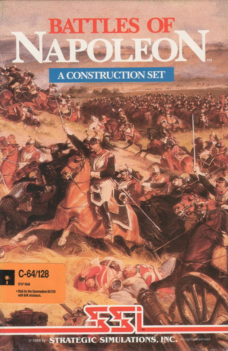 Battles of Napoleon Commodore 64 Front Cover