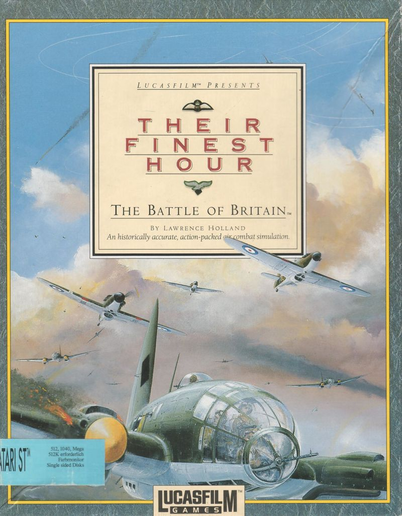 Their Finest Hour: The Battle of Britain Atari ST Front Cover