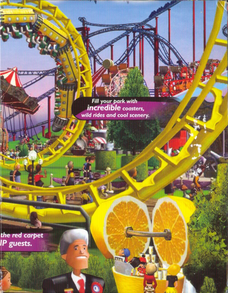 RollerCoaster Tycoon 3 Windows Inside Cover Right Side