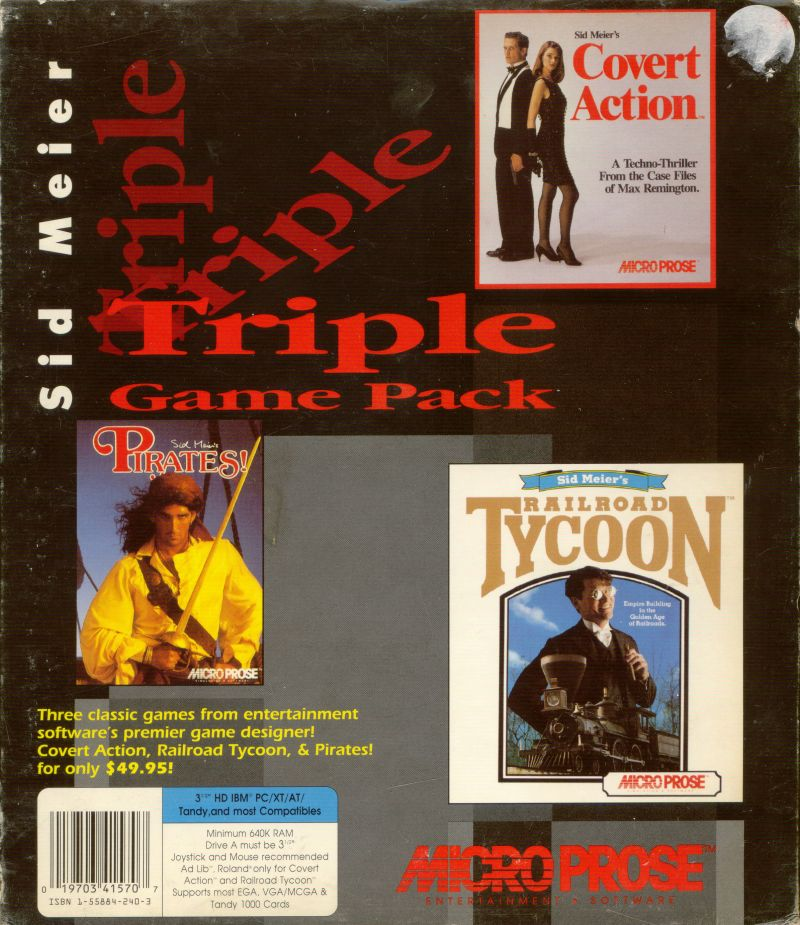 Sid Meier Triple Game Pack DOS Front Cover