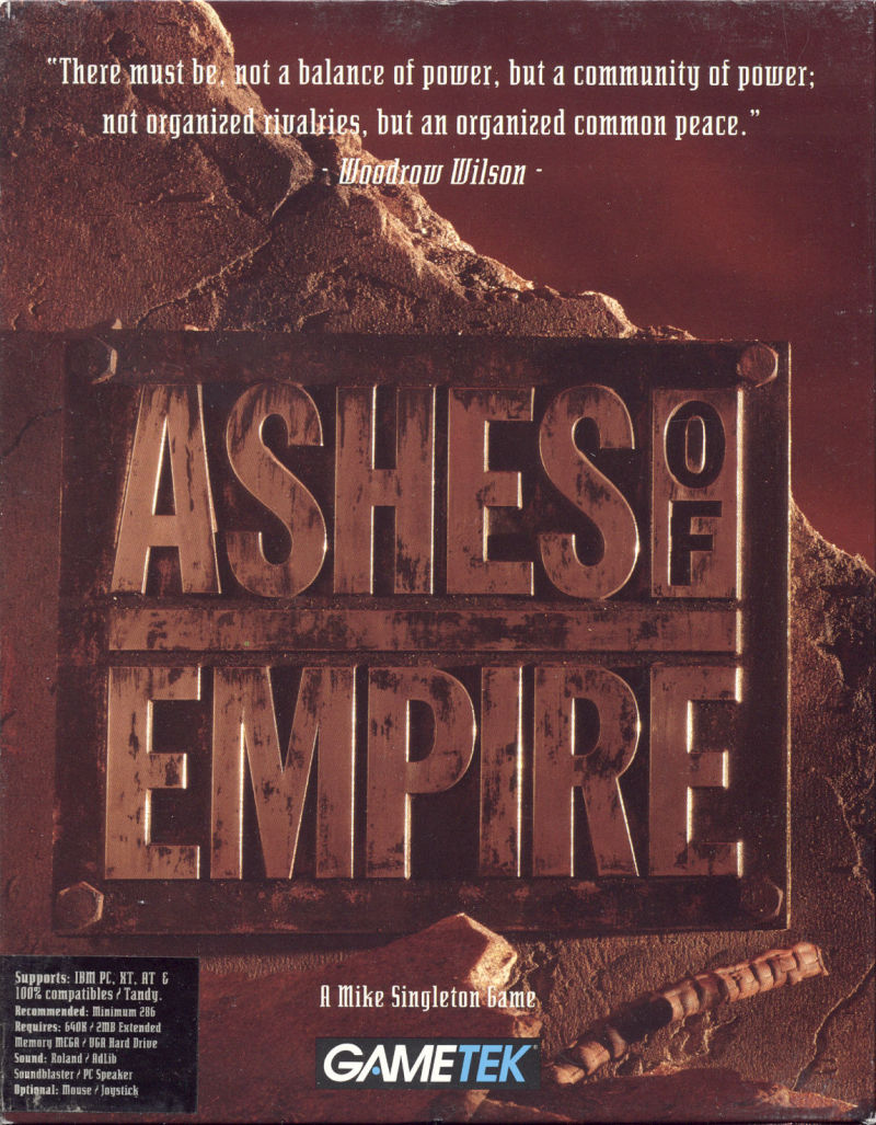 Ashes of Empire DOS Front Cover