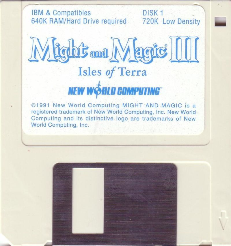 Might and Magic III: Isles of Terra DOS Media Disk 1/5