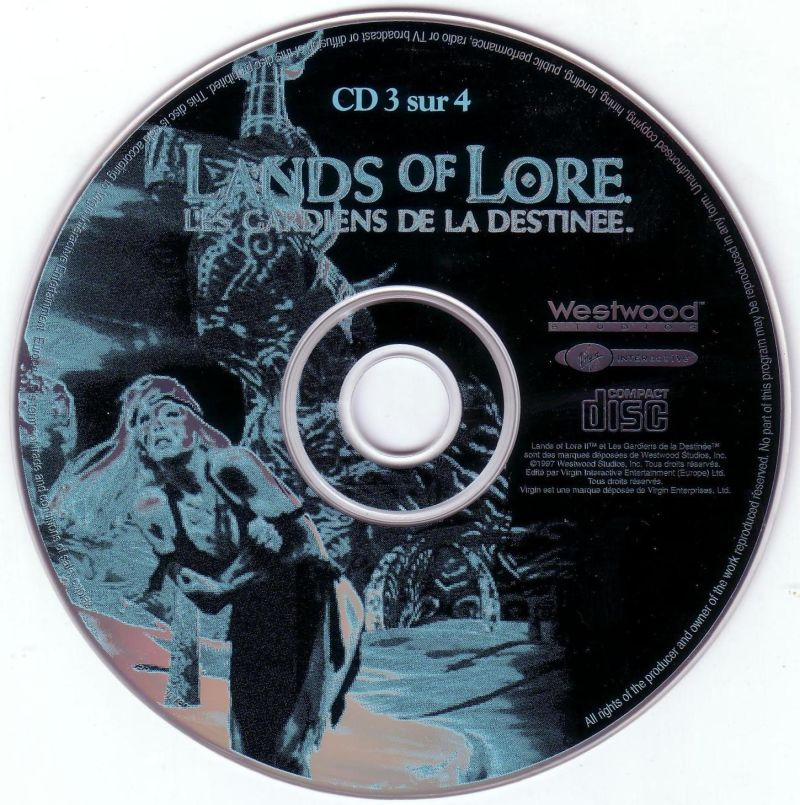Lands of Lore: Guardians of Destiny DOS Media Disc 3