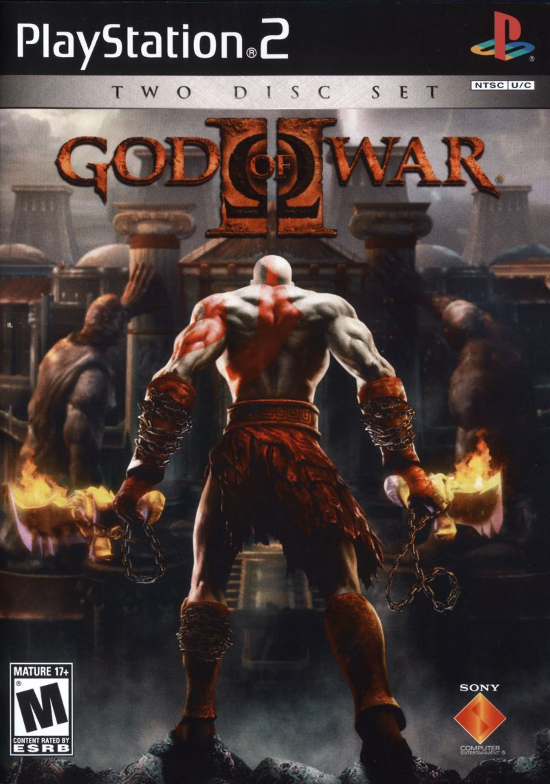 God of War II PlayStation 2 Front Cover