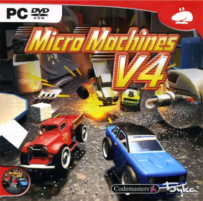 micro machines v4 2006 playstation 2 box cover art mobygames. Black Bedroom Furniture Sets. Home Design Ideas