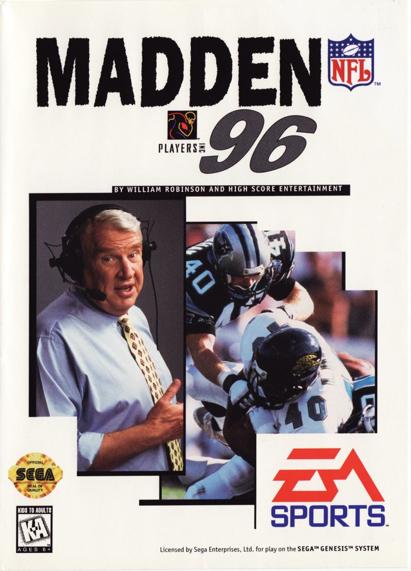 Madden NFL 96 Genesis Front Cover