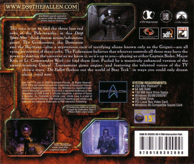 Star Trek: Deep Space Nine - The Fallen Windows Other Jewel Case - Back