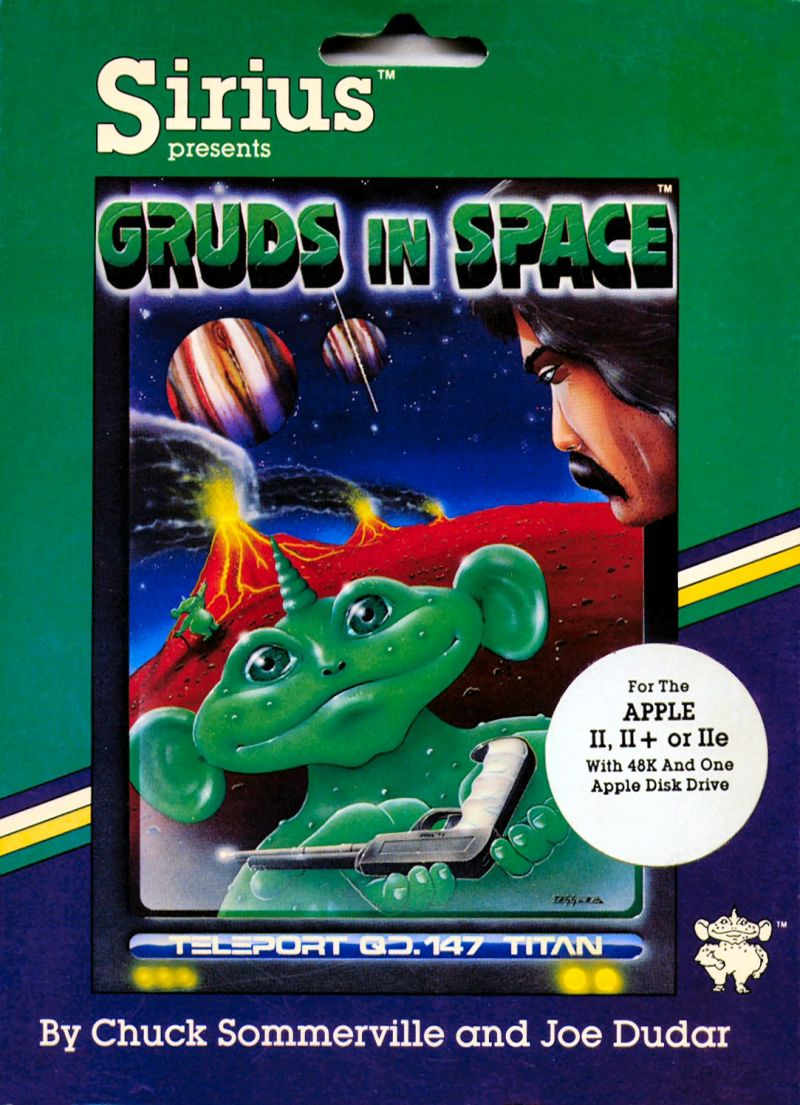 Gruds In Space Apple II Front Cover Floppy disk