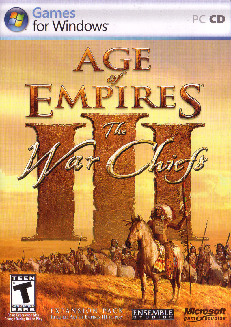 Age of Empires III: The WarChiefs Windows Other Keep Case - Front
