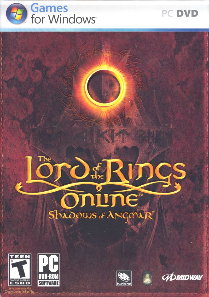 The Lord of the Rings Online: Shadows of Angmar Windows Front Cover