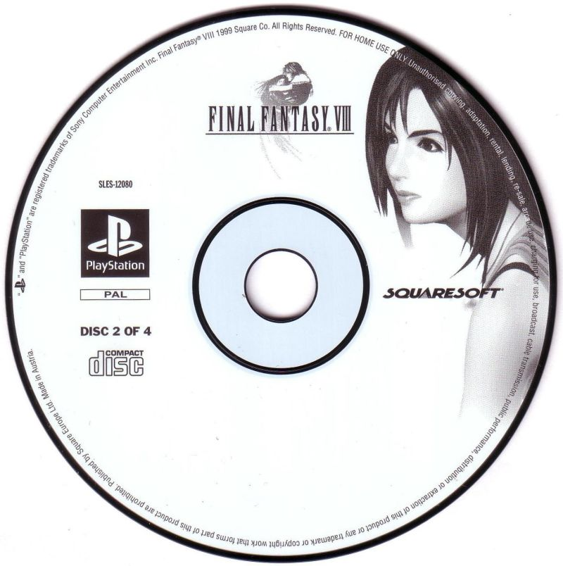 Final Fantasy VIII PlayStation Media Disc 2
