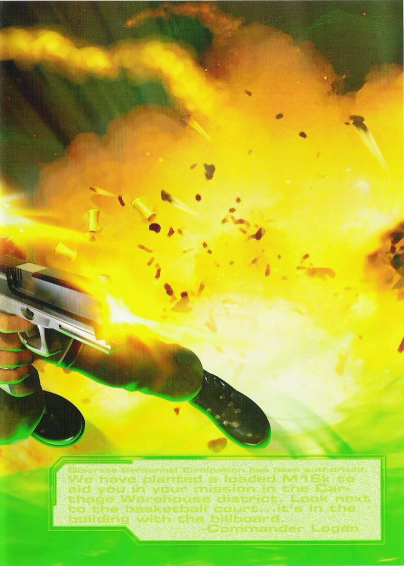 Syphon Filter: The Omega Strain PlayStation 2 Inside Cover Right