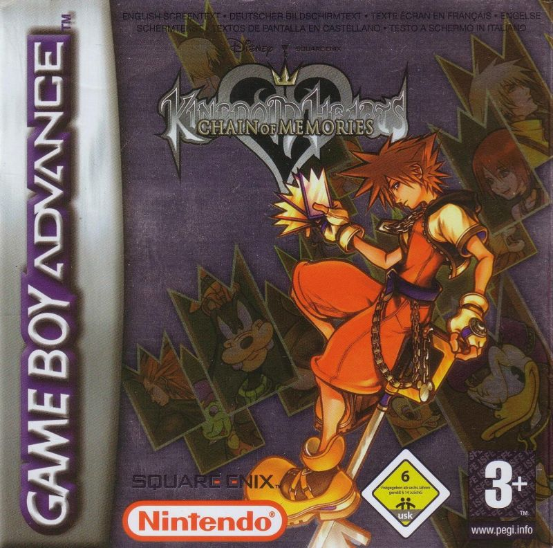 Kingdom Hearts: Chain of Memories Game Boy Advance Front Cover