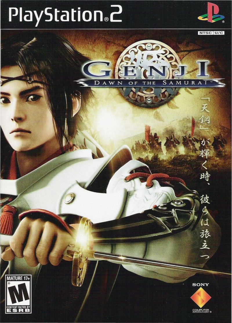 Genji: Dawn of the Samurai PlayStation 2 Front Cover