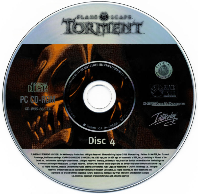 Planescape: Torment / Baldur's Gate / Fallout 2 Windows Media Planescape: Torment - Disc 4