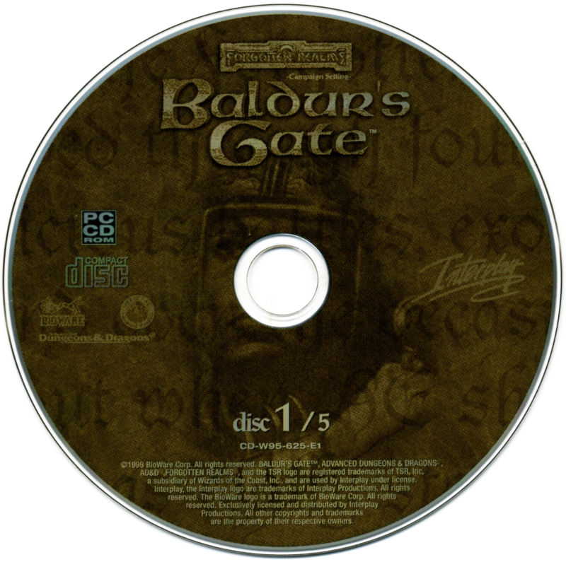 Planescape: Torment / Baldur's Gate / Fallout 2 Windows Media Baldur's Gate - Disc 1