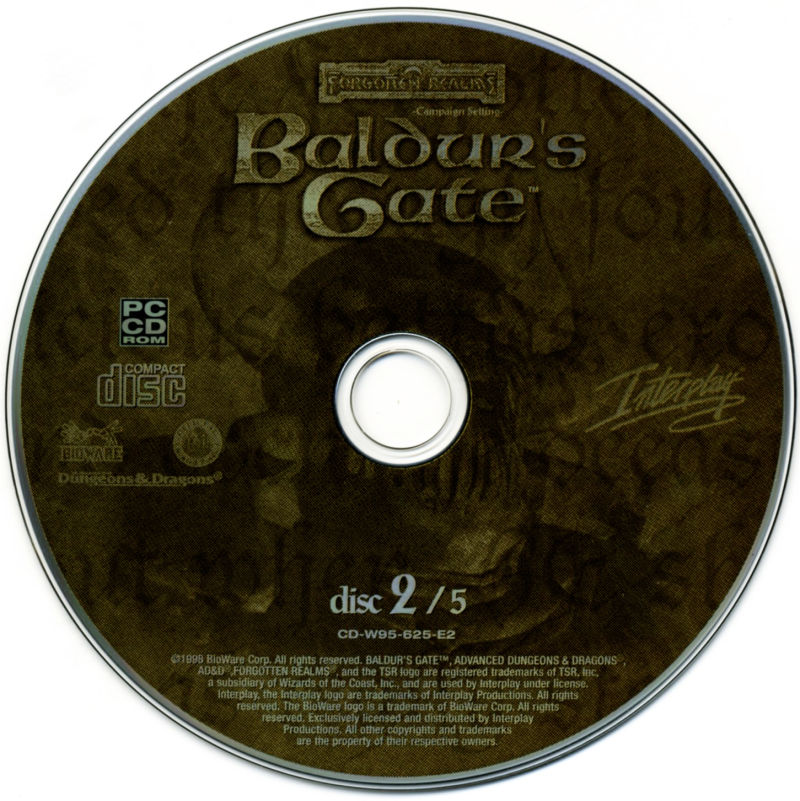Planescape: Torment / Baldur's Gate / Fallout 2 Windows Media Baldur's Gate - Disc 2