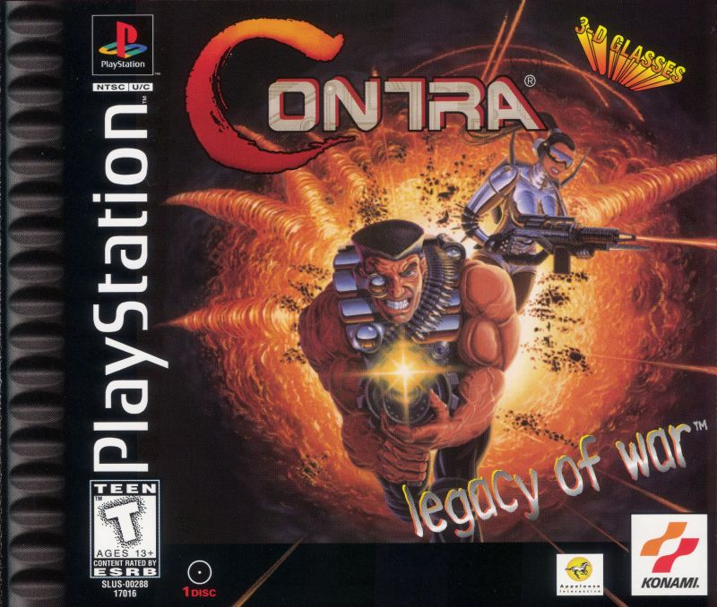Contra: Legacy of War PlayStation Front Cover