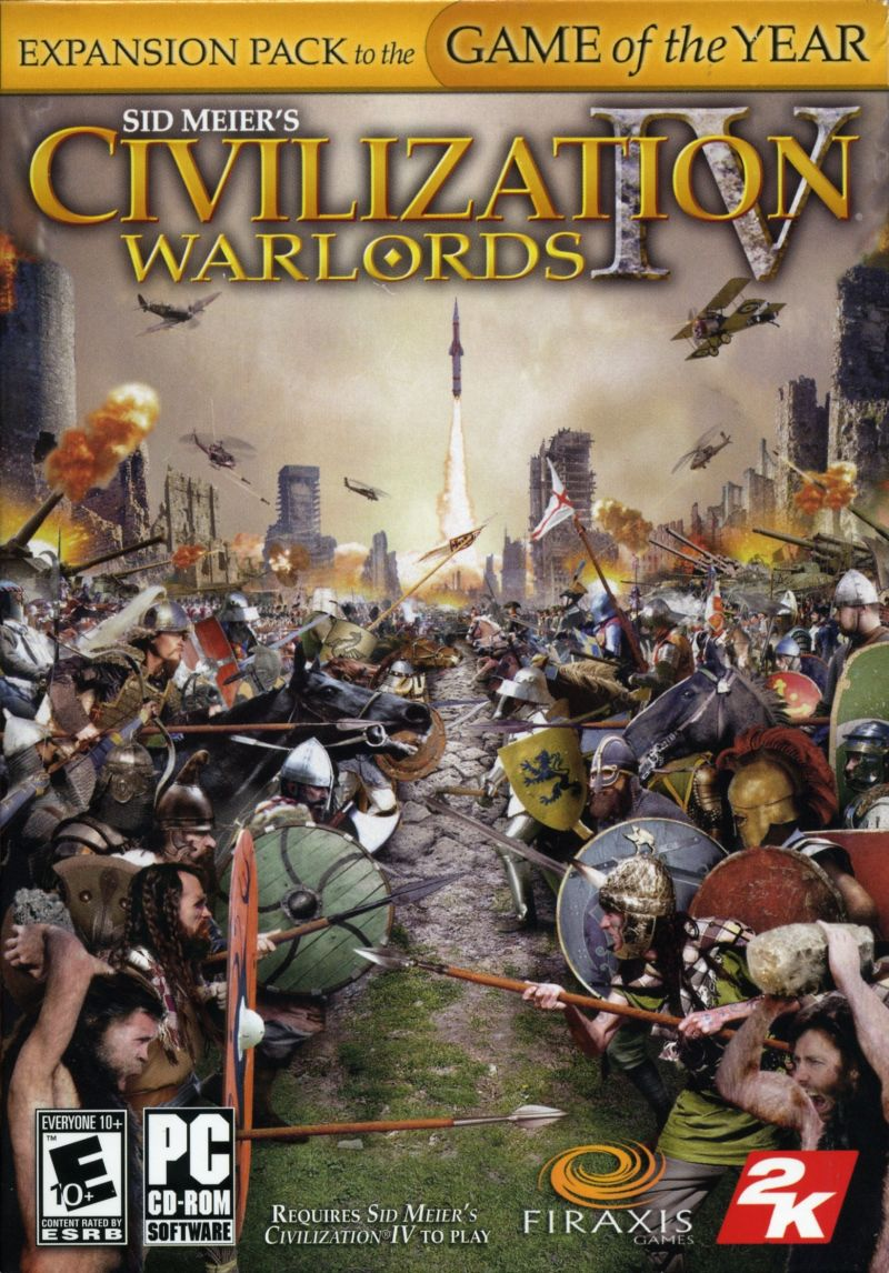 Sid Meier's Civilization IV: Warlords Windows Front Cover