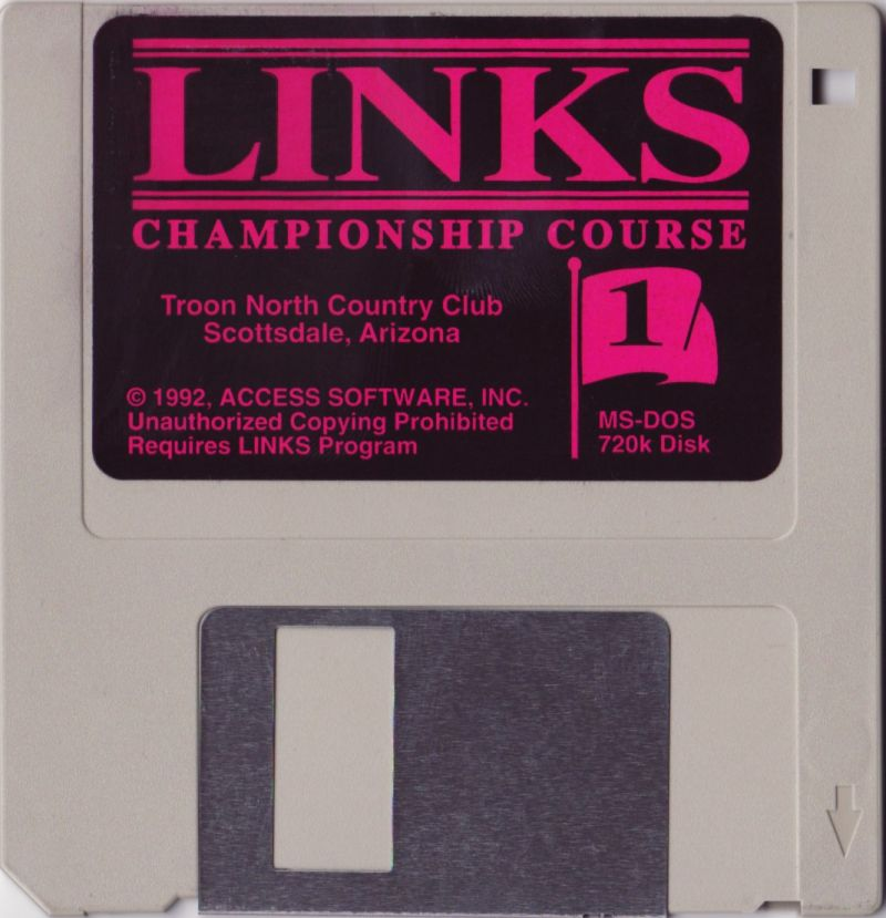 Links: Championship Course - Troon North DOS Media Disk 1/3