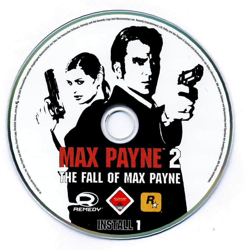Max Payne 2: The Fall of Max Payne Windows Media Install disc 1/2