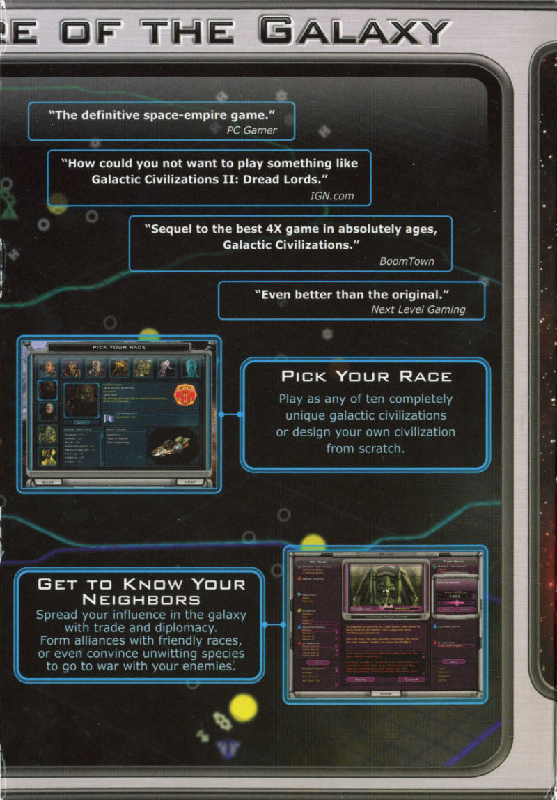 Galactic Civilizations II: Dread Lords Windows Inside Cover Right