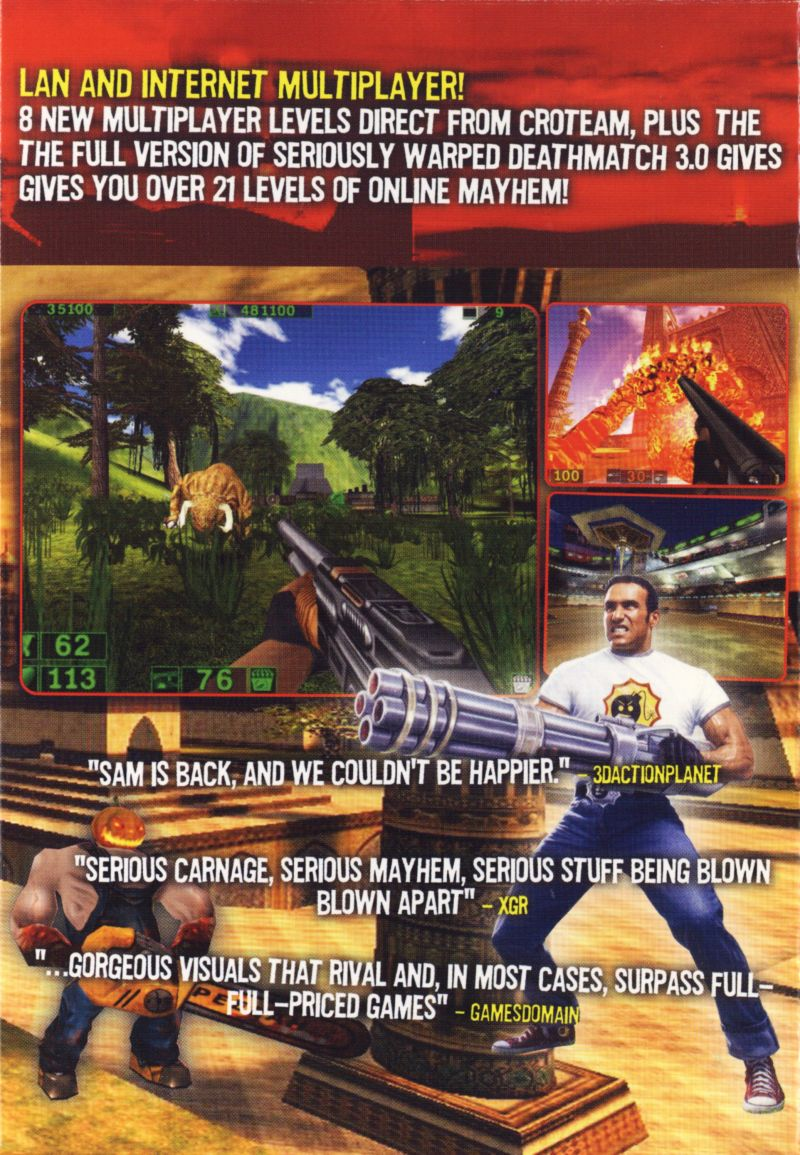 Serious Sam: The Second Encounter Windows Inside Cover Right
