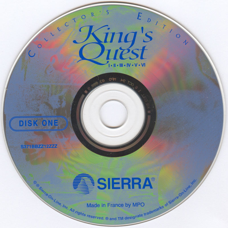 King's Quest (Collector's Edition) DOS Media Disc 1/2