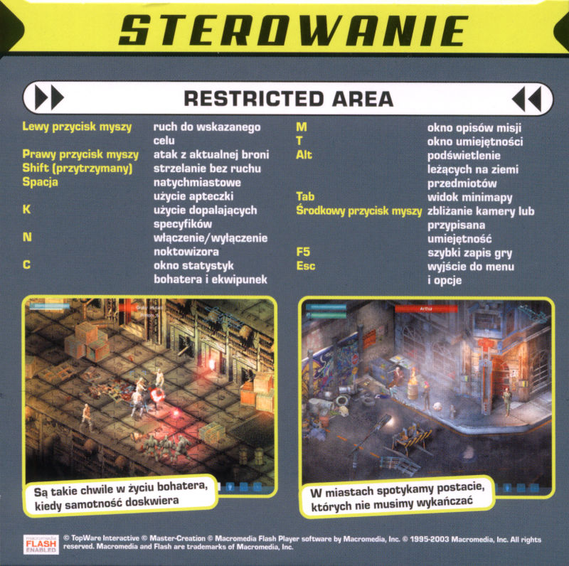 Restricted Area Windows Back Cover Disc 1/2
