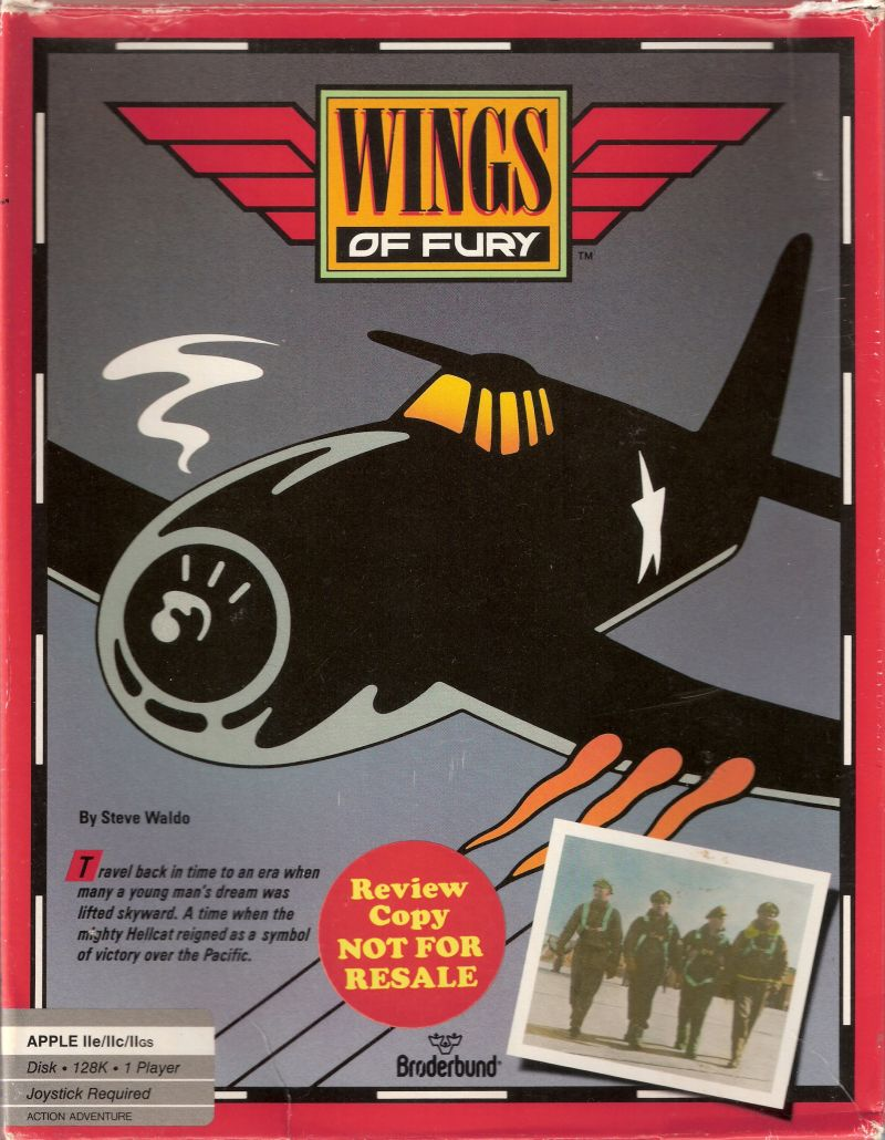 Wings of Fury Apple II Front Cover