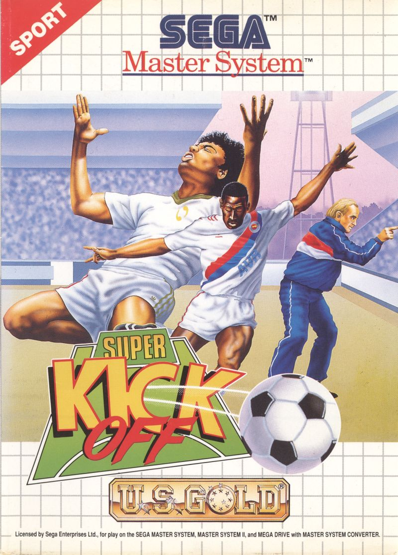 Super Kick Off SEGA Master System Front Cover