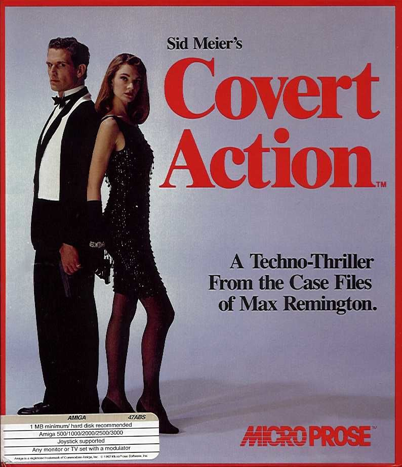 Sid Meier's Covert Action Amiga Front Cover