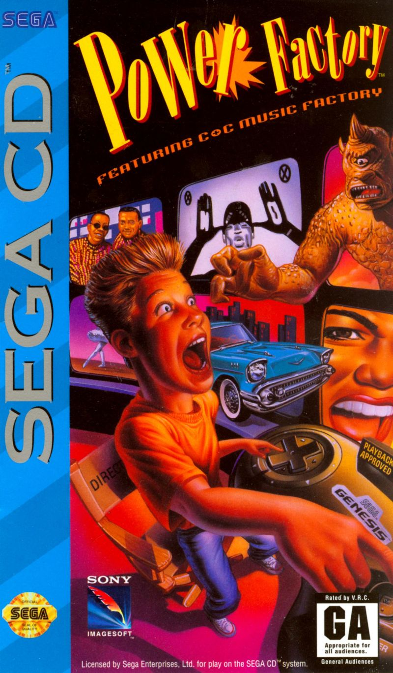 Power Factory Featuring C+C Music Factory SEGA CD Front Cover