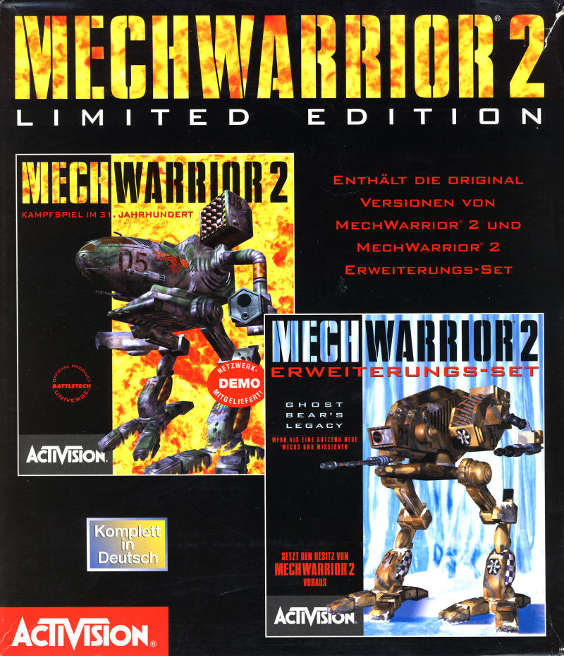 MechWarrior 2: Limited Edition DOS Front Cover