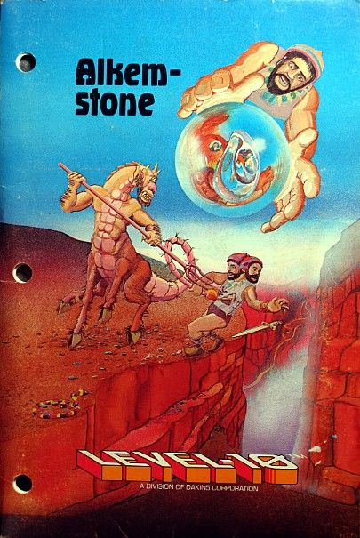 Alkemstone Apple II Front Cover