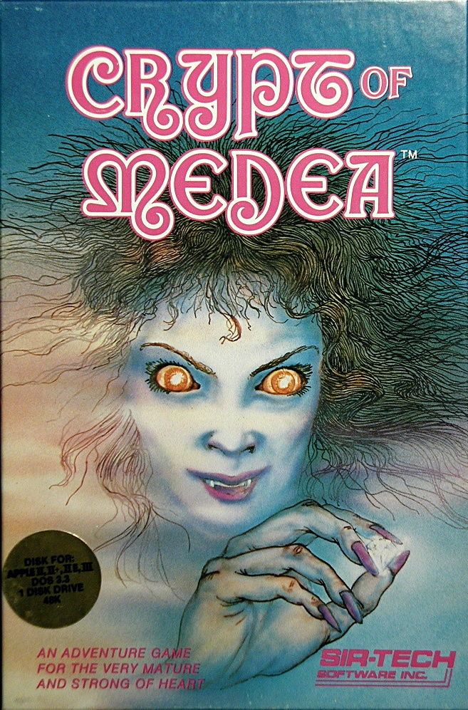 Crypt of Medea Apple II Front Cover