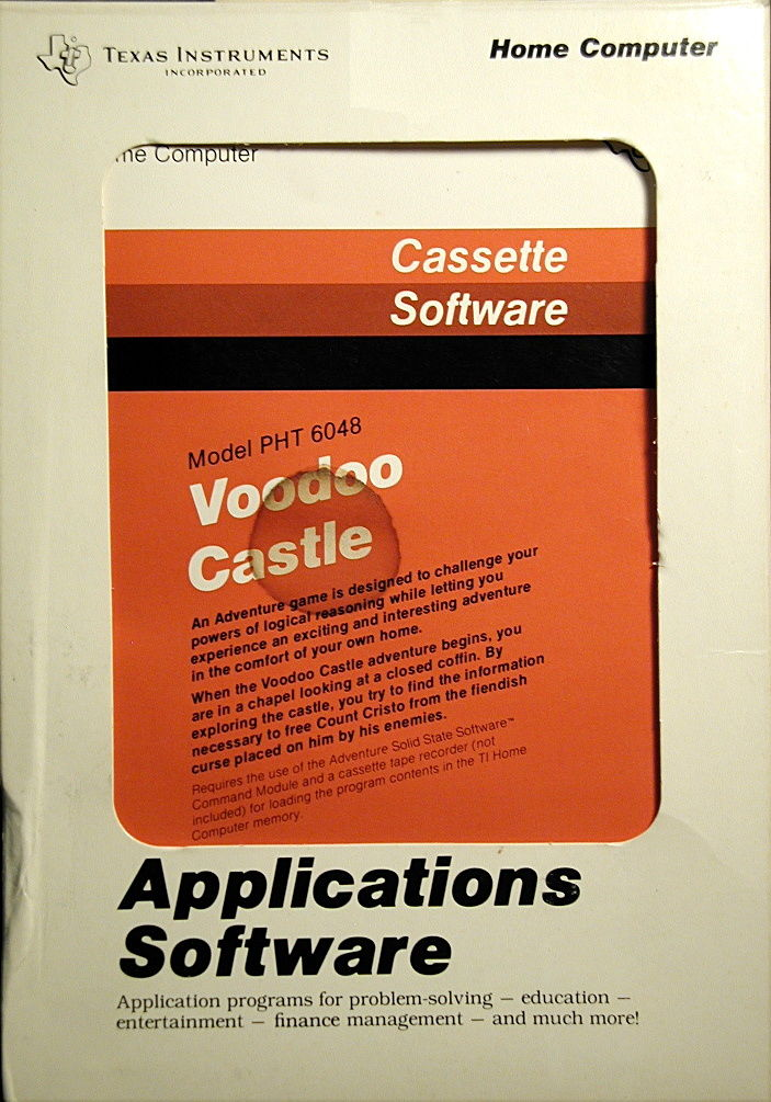Voodoo Castle TI-99/4A Front Cover
