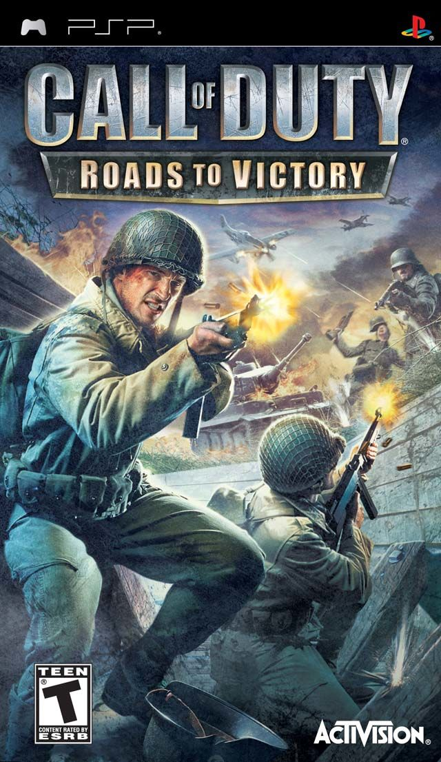 Call of Duty: Roads to Victory PSP Front Cover