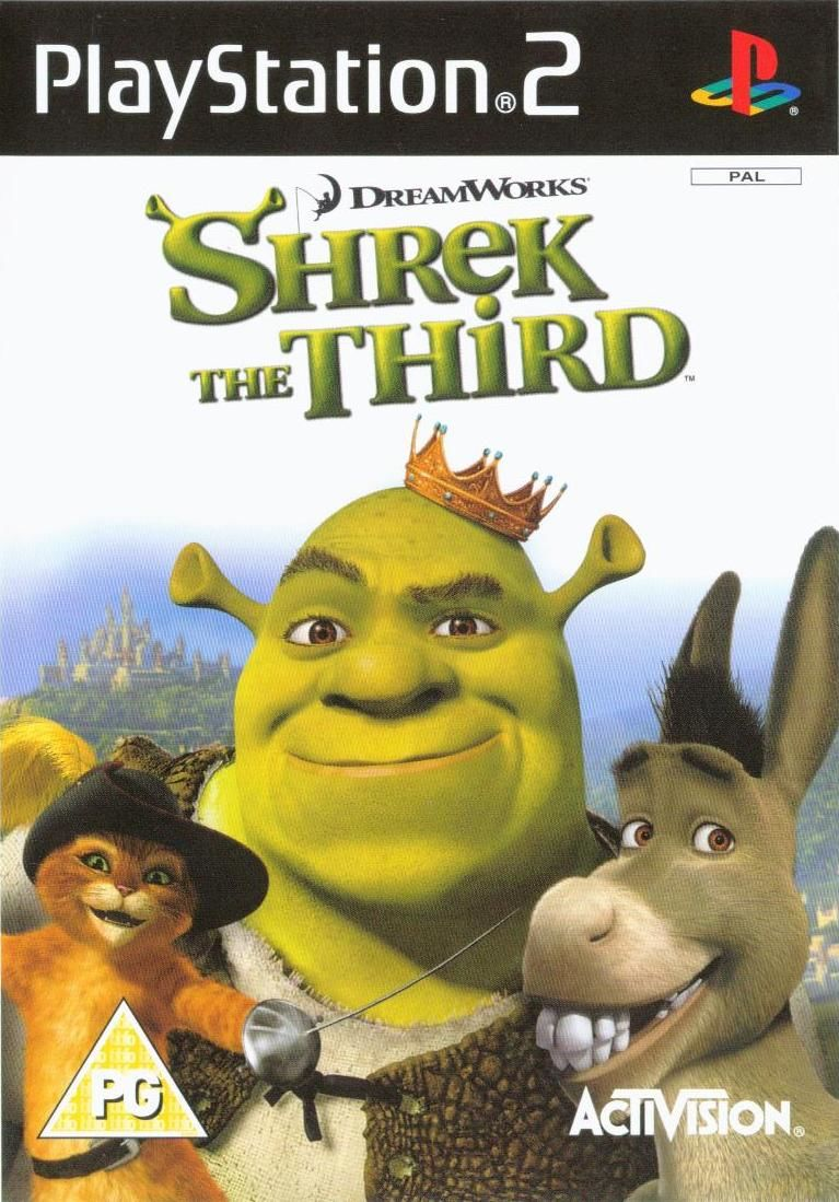 Shrek the Third PlayStation 2 Front Cover
