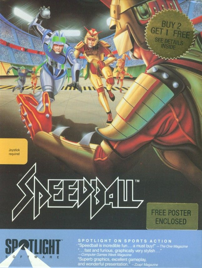 Speedball Commodore 64 Front Cover