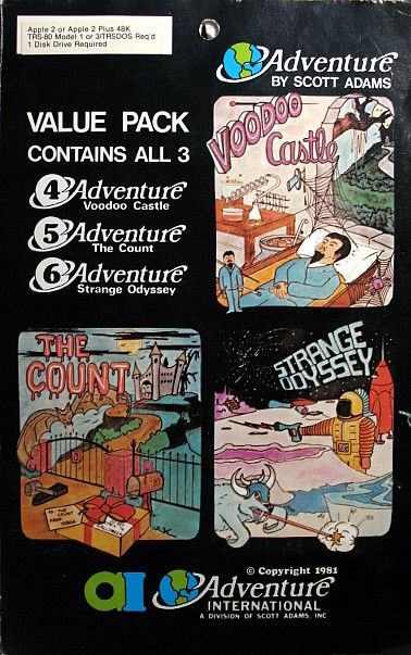Adventure Value Pack #2 Apple II Front Cover