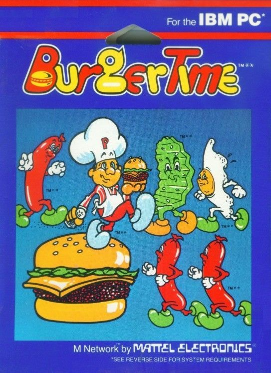 BurgerTime PC Booter Front Cover