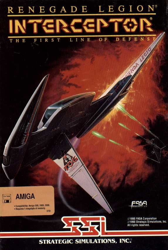 Renegade Legion: Interceptor Amiga Front Cover