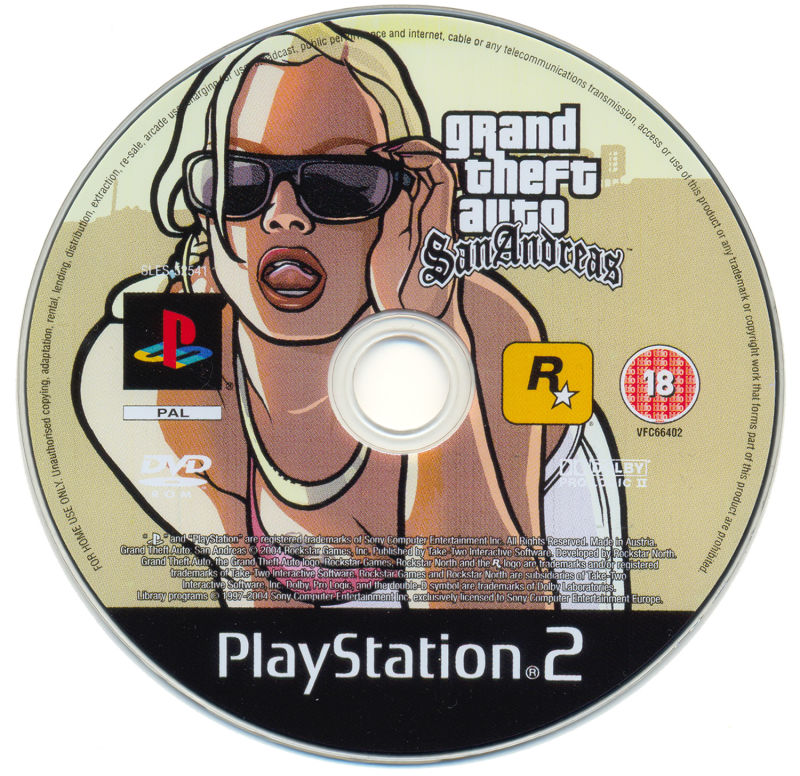 Grand Theft Auto: San Andreas PlayStation 2 Media