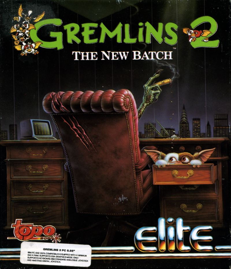 Gremlins 2: The New Batch DOS Front Cover