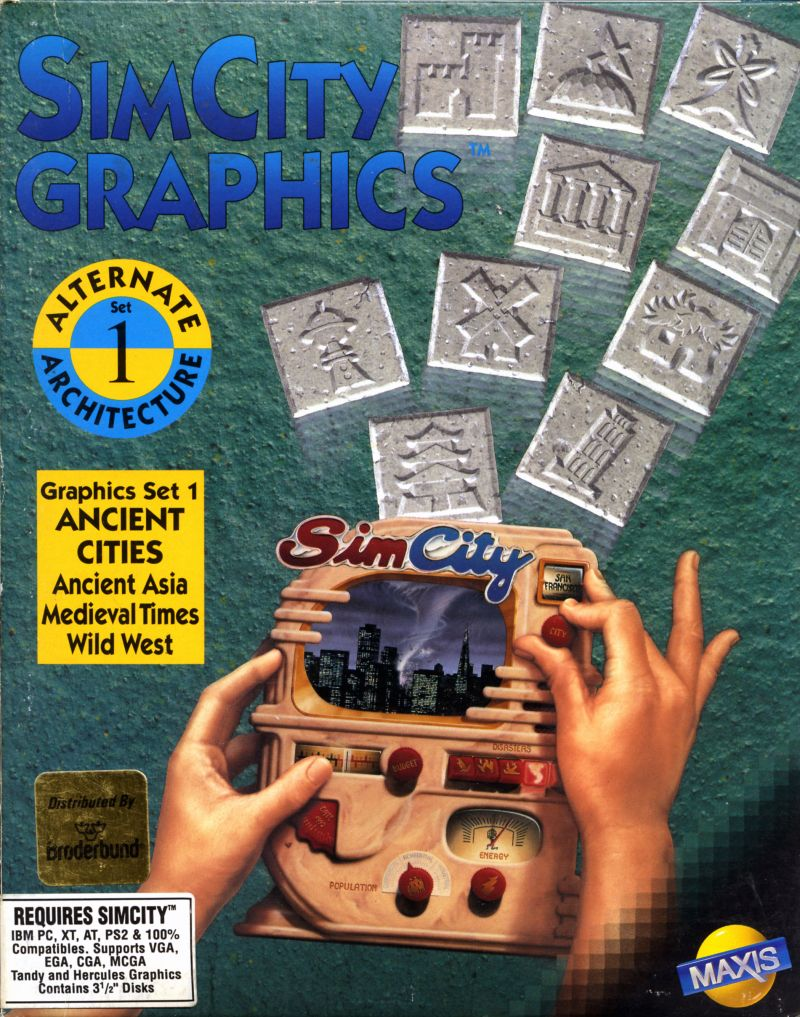 SimCity Graphics Set 1: Ancient Cities DOS Front Cover