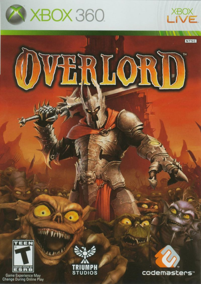Overlord Xbox 360 Front Cover