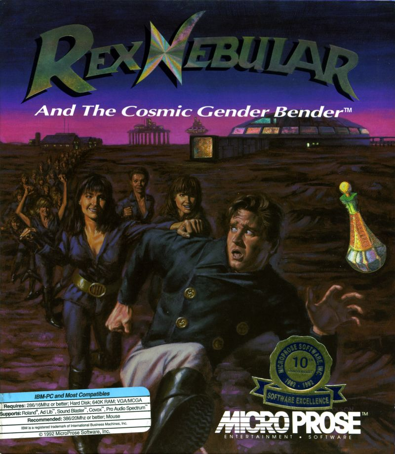 Rex Nebular and the Cosmic Gender Bender DOS Front Cover