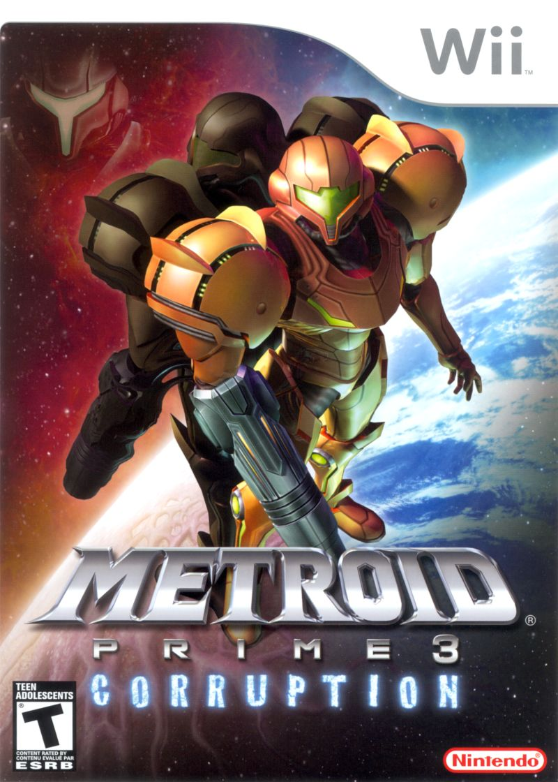 Metroid Prime 3: Corruption Wii Front Cover