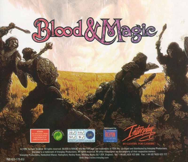 Blood & Magic DOS Other Jewel Case - Back